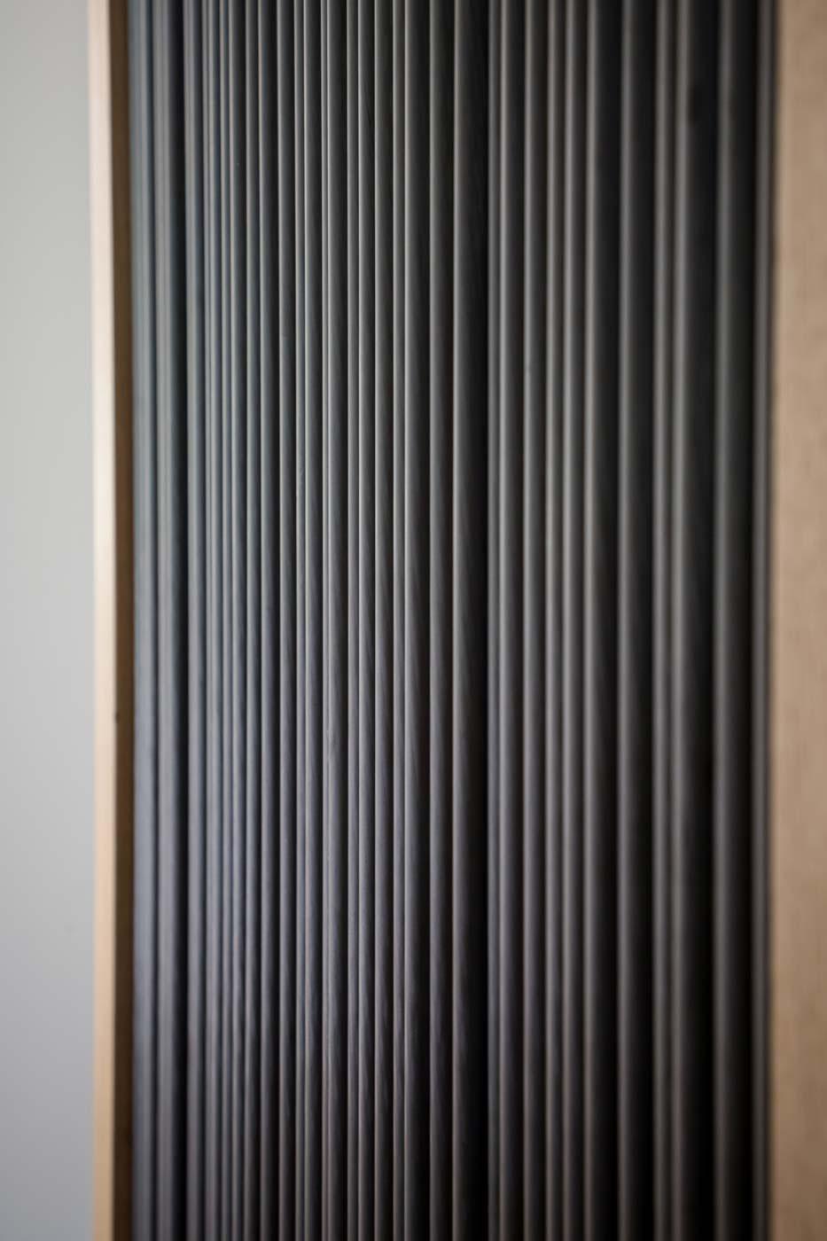 Porte de placard Éventail détail du carbone