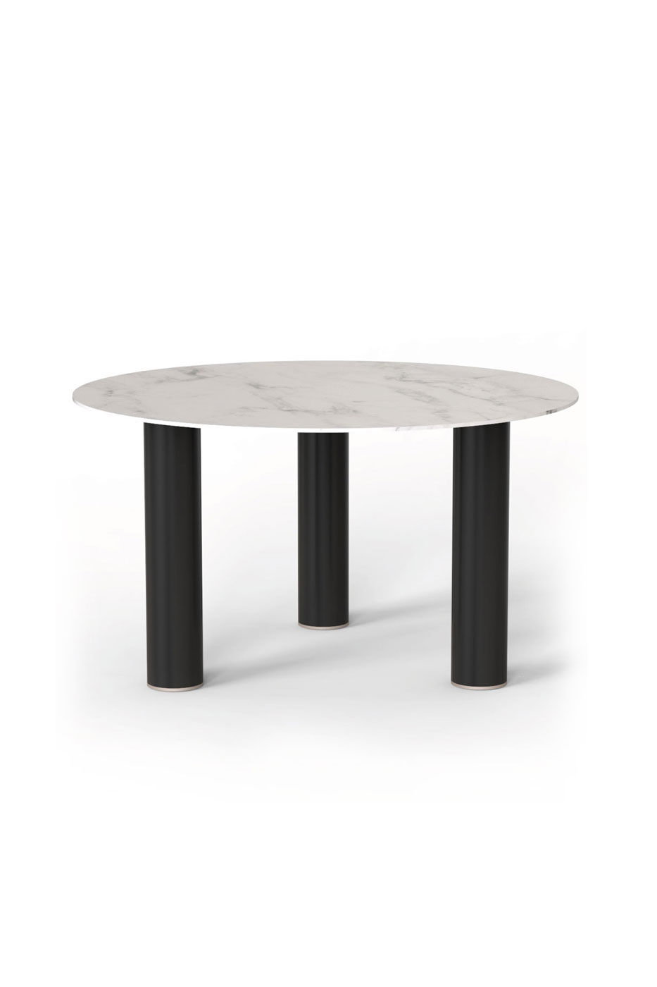 Pilotis Claouey table Carrare marble
