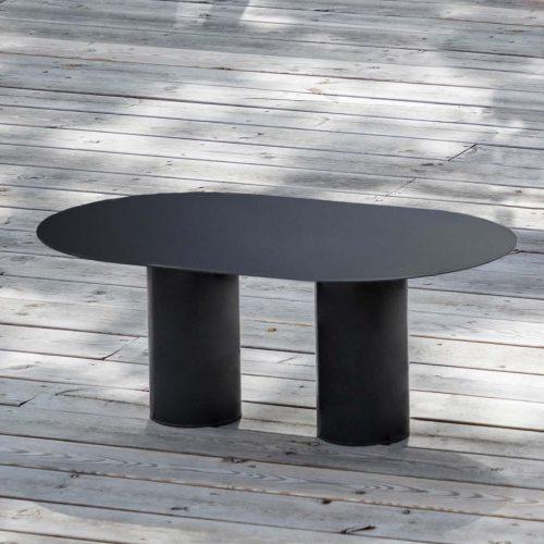 Table basse Diamant noir détail