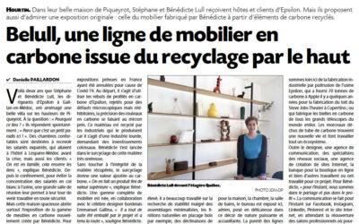 Une ligne de mobilier en carbone issue du recyclage par le haut